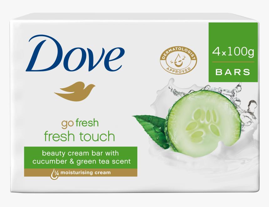 Transparent Soaps Slogan - Dove Go Fresh Cucumber & Green Tea Beauty Bar, HD Png Download, Free Download