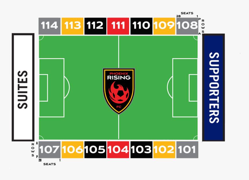 American Football Field Png - Phoenix Rising Stadium Map, Transparent Png, Free Download