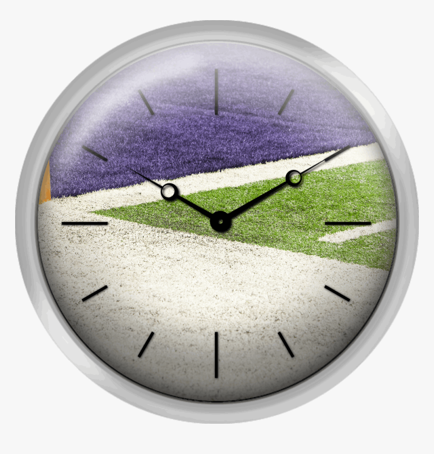 Goal Line Marker On American Football Field - Wall Clock, HD Png Download, Free Download