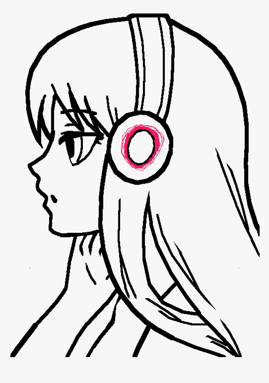 Clipart Royalty Free Stock Anonymous Drawing Girl - Anime Girl Drawing Easy, HD Png Download, Free Download