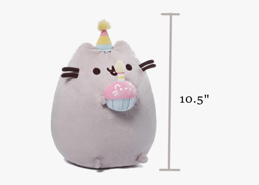 B-day Cupcake, - Pusheen Cat Birthday Plush, HD Png Download, Free Download