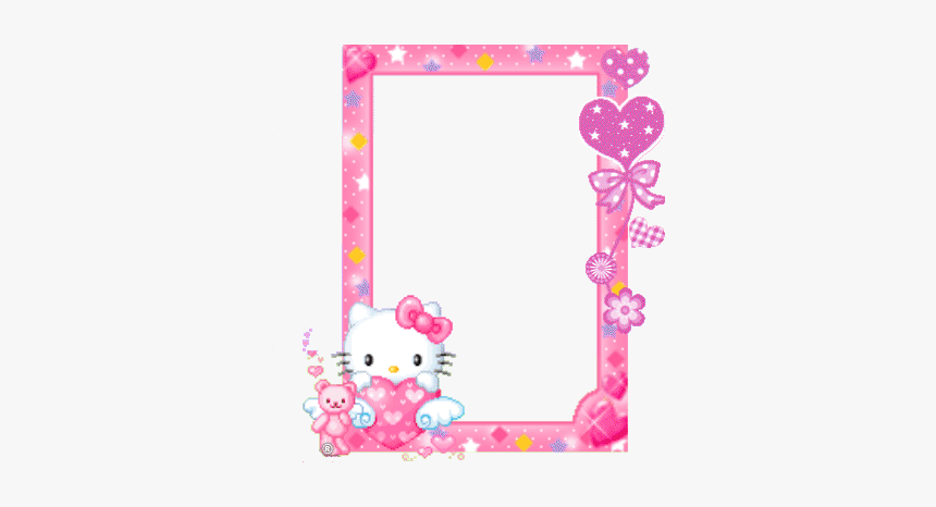 #hellokitty #sanrio #border #frame #kawaiiframe #pink - Borders Hello Kitty Frame, HD Png Download, Free Download