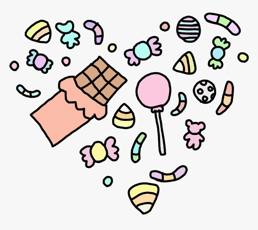 Transparent Kawaii Candy Png Easy Kawaii Cute Drawings Png Download Kindpng