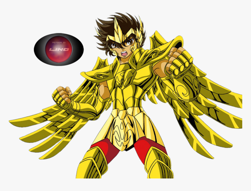 Disfruta De Los 20 Renders Del Anime Caballeros Del - Pegasus Oro, HD Png Download, Free Download