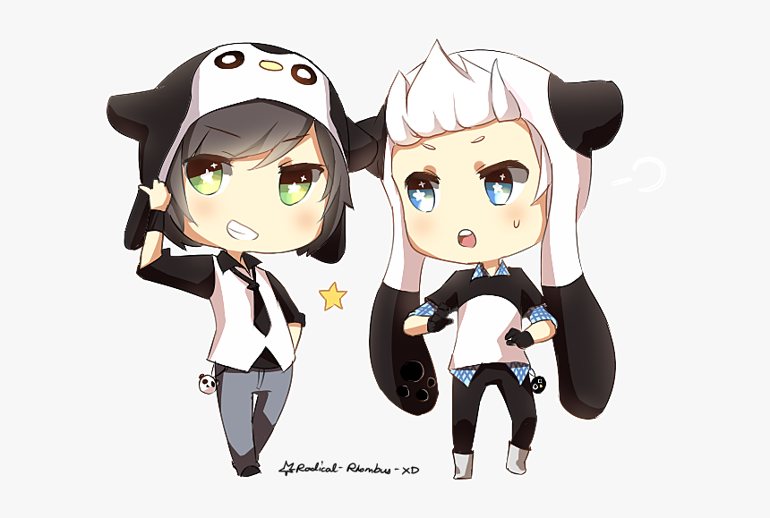 Chibi Anime Panda Boy, HD Png Download, Free Download