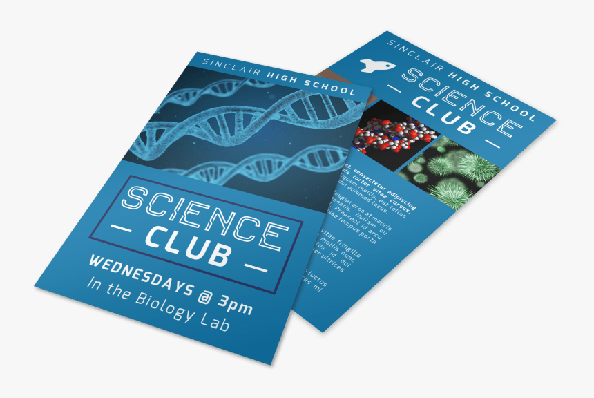 Science Club Flyer Template Preview - Brochure, HD Png Download, Free Download