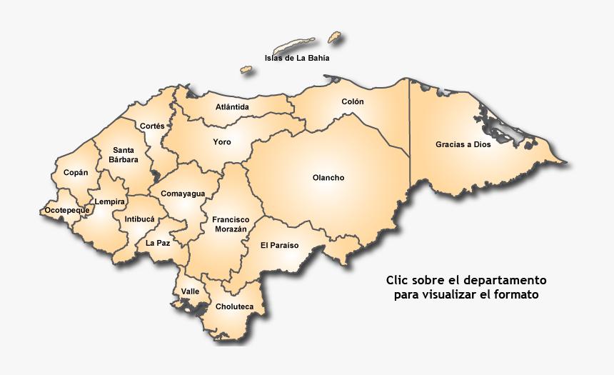 Transparent Mapa De Honduras Png - Ubicacion De Los Grupos Etnicos De Honduras, Png Download, Free Download