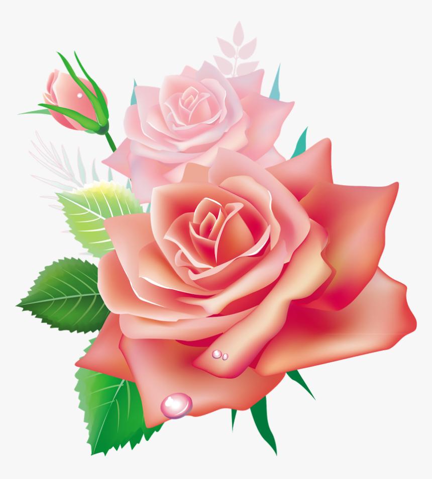3d Rose Flower Png, Transparent Png, Free Download