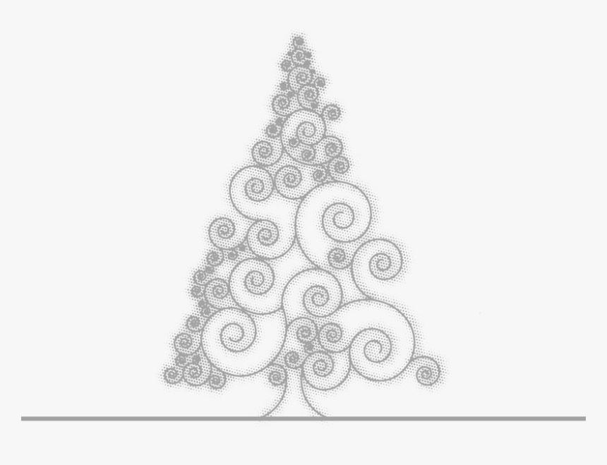 Drawing Grey Painted Sketch Pattern - Arbol De Navidad Gris Dibujo, HD Png Download, Free Download