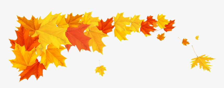 Autumn Leaves Border Png , Png Download - Fall Leaves Border Png, Transparent Png, Free Download