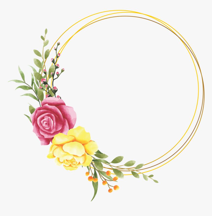 Frame Floral Rosa Png, Transparent Png, Free Download