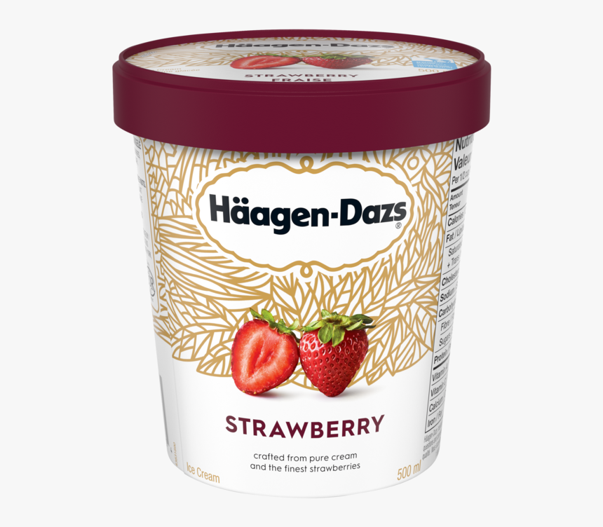 Strawberry Ice Cream Haagen Dazs, HD Png Download - kindpng