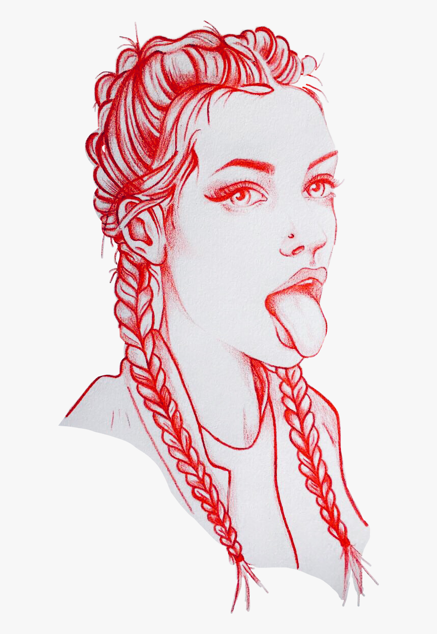 Transparent Girl With Braids Clipart - Drawings Of Bad Girls, HD Png Download, Free Download