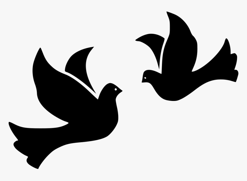 Bird Birds Dove Doves Flight Fly Flying Peace Wing - Turtle Doves Icon, HD Png Download, Free Download