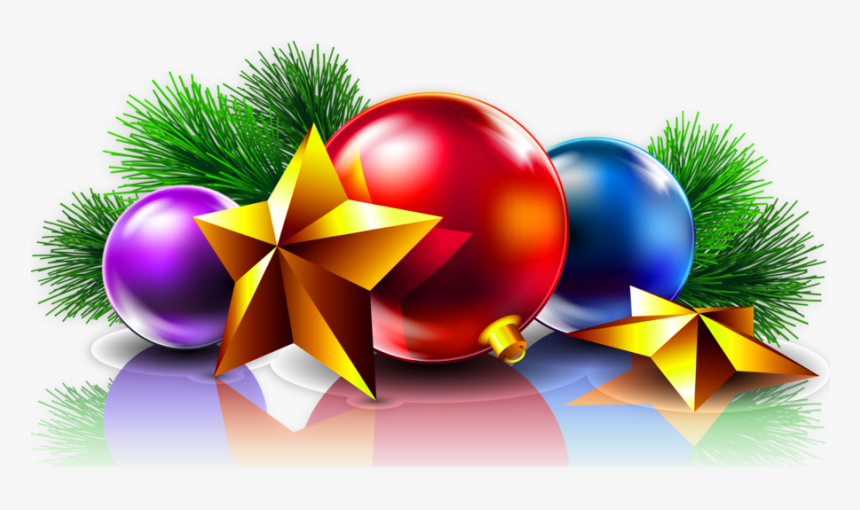 Christmas Balls And Stars, HD Png Download, Free Download