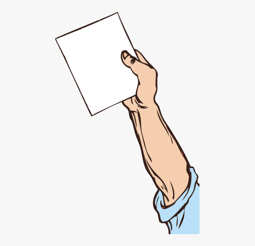 Neck,area,artwork - Man Holding Paper Clipart, HD Png Download, Free Download