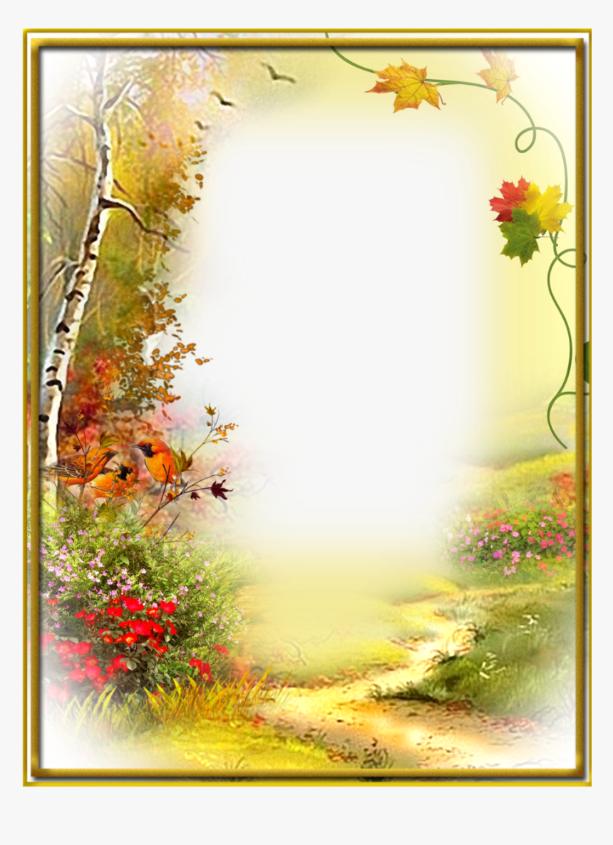 autumn flowers frames clipart picture frames decorative page border design nature hd png download kindpng autumn flowers frames clipart picture
