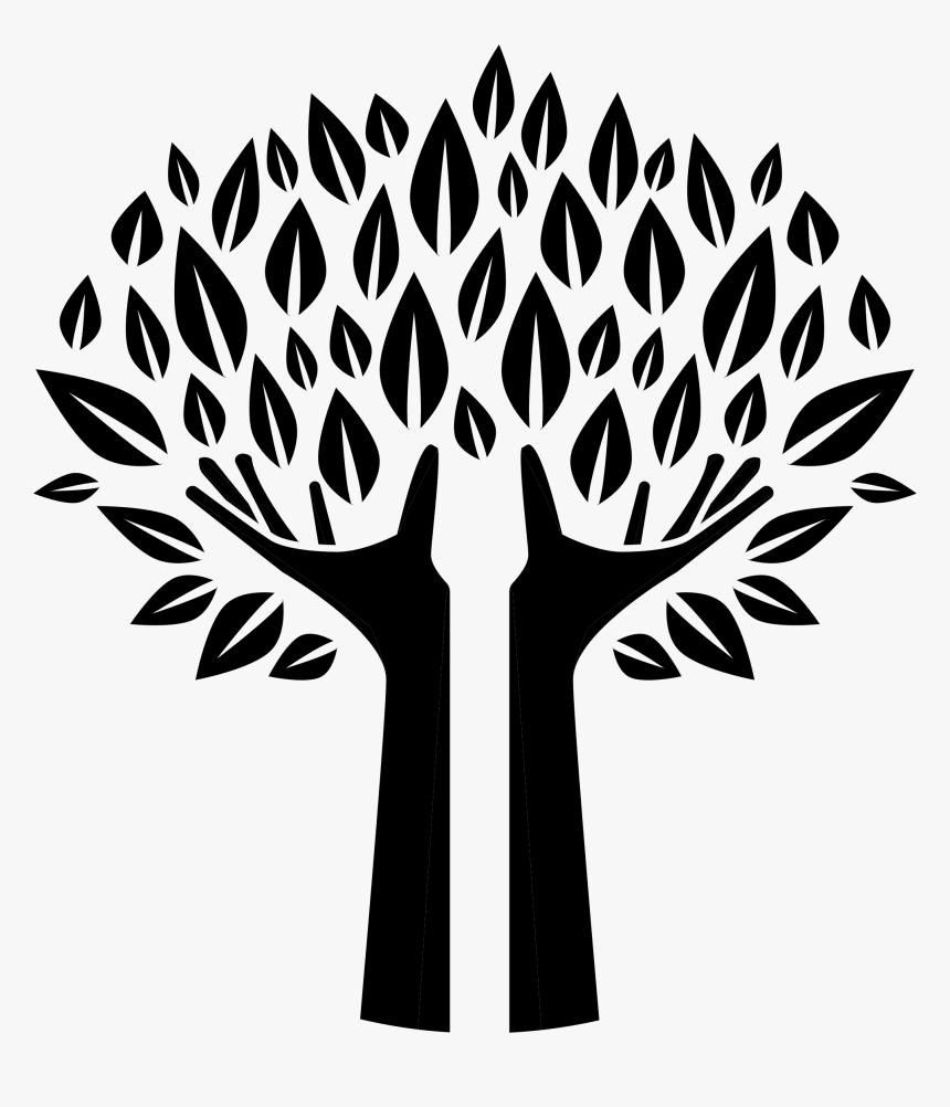 Hands Tree Silhouette Icons Png - Family Tree Silhouette Png, Transparent Png, Free Download