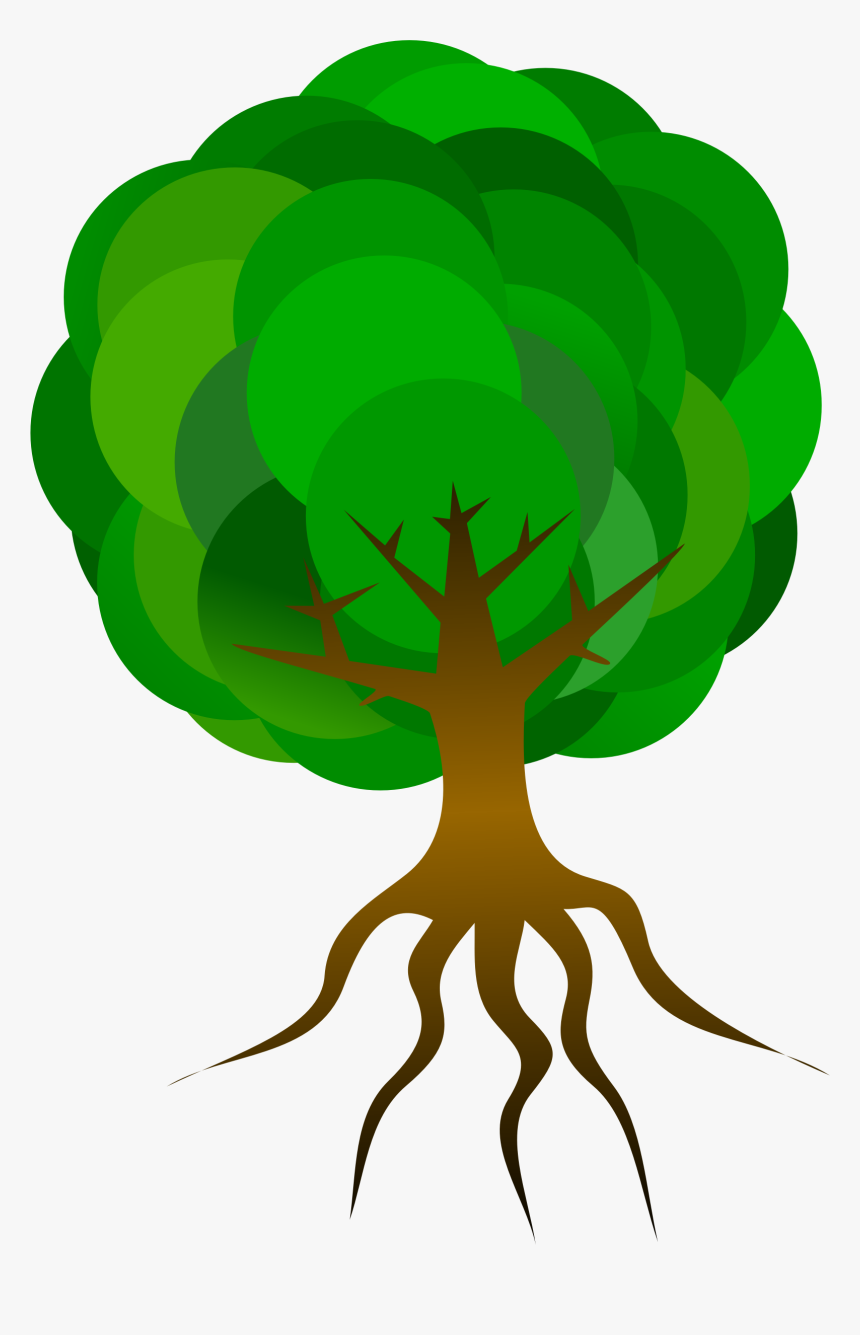 Tree With Roots Png - Cartoon Roots Of A Tree, Transparent Png, Free Download