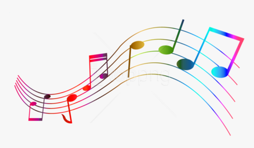 Free Png Download Transparent Colorful Notes Png Images - Colorful Musical Symbols, Png Download, Free Download