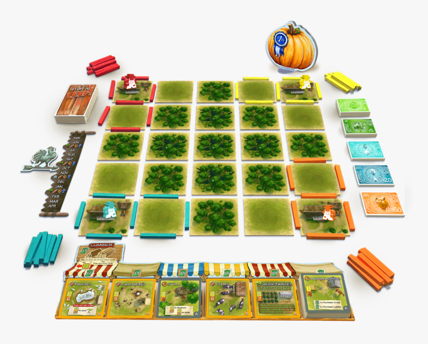 Get Off My Land Board Game, HD Png Download, Free Download