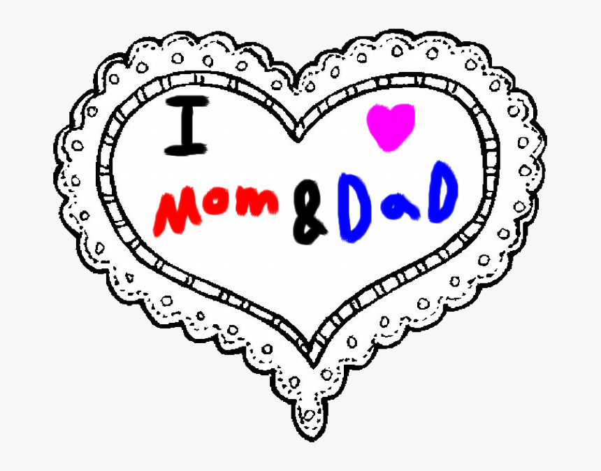 Mom And By Roxaspikachu Valentines Day Hearts Coloring Pages Hd Png Download Kindpng