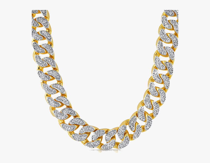 Necklace Clipart Thug Life - Gold Diamond Chain Png, Transparent Png, Free Download