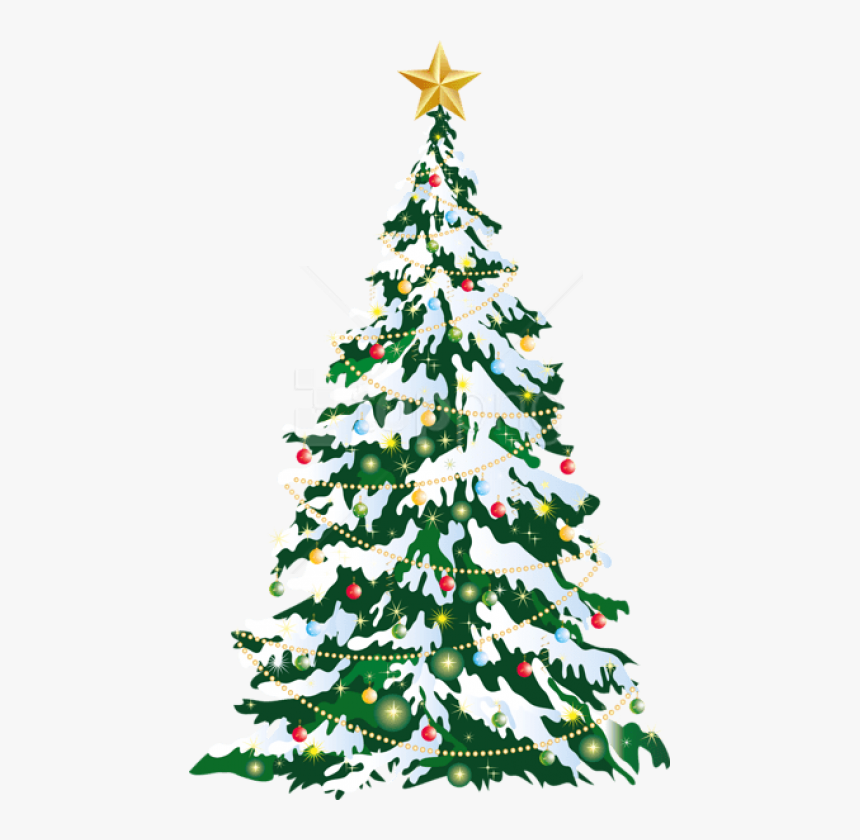Free Png Large Deco Christmas Tree Art Png Images Transparent - Large Christmas Tree Clipart, Png Download, Free Download