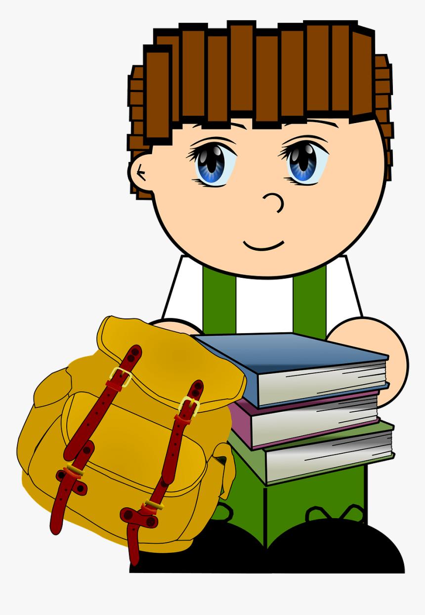 Schoolboy Clipart - School Boy Clip Art Transparent, HD Png Download, Free Download