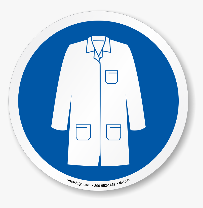 Collection Of Blue - Lab Coat Ppe Symbol, HD Png Download, Free Download
