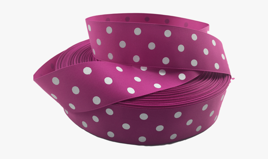 Ribbons [tag] Medium Pink Polka Dot Grosgrain Ribbon - Polka Dot, HD Png Download, Free Download