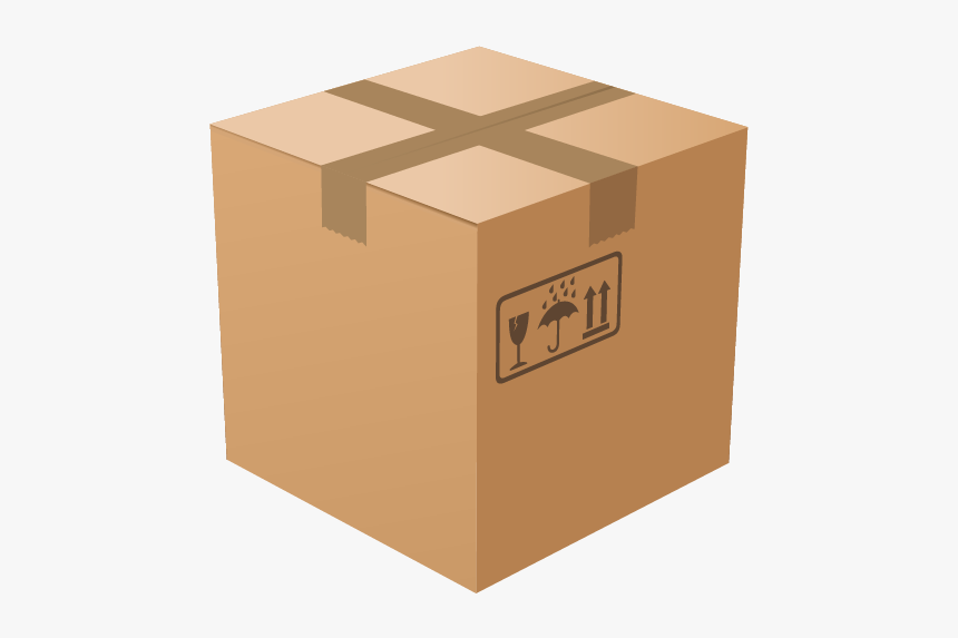 Package Vector Corrugated Box - Cartoon Cardboard Box Png, Transparent Png, Free Download