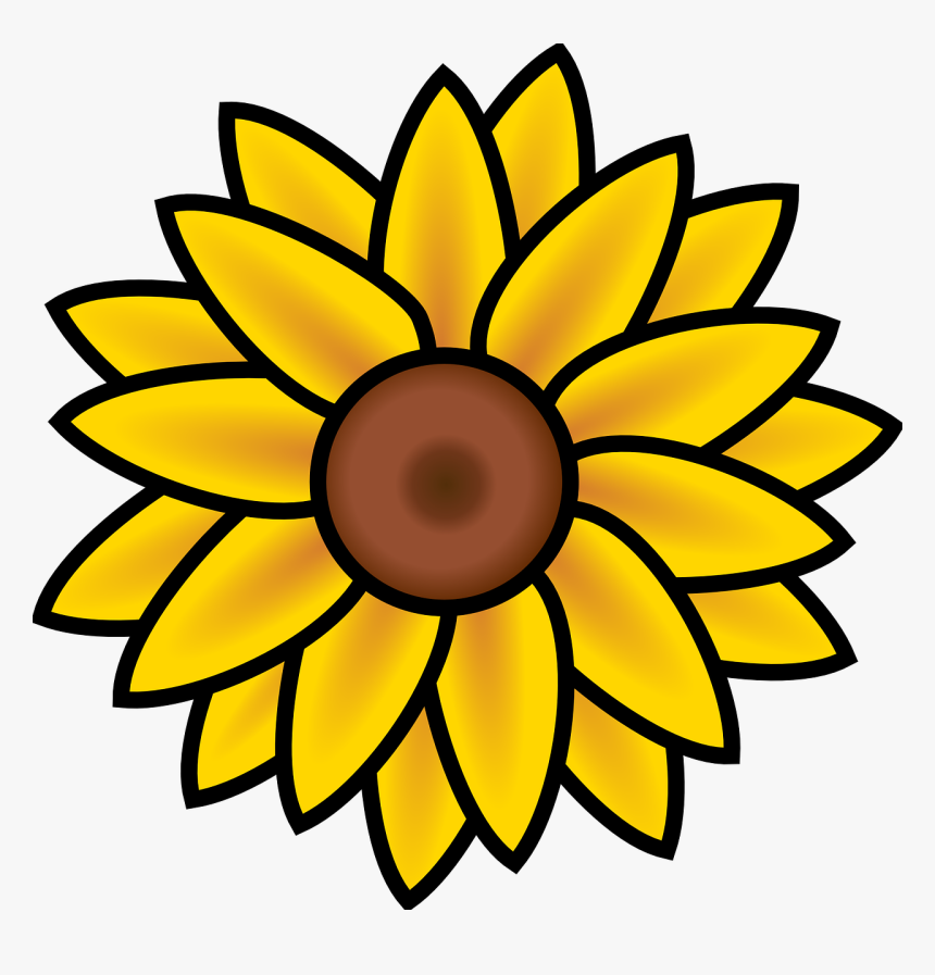 Sunflower Svg Clip Arts, HD Png Download, Free Download