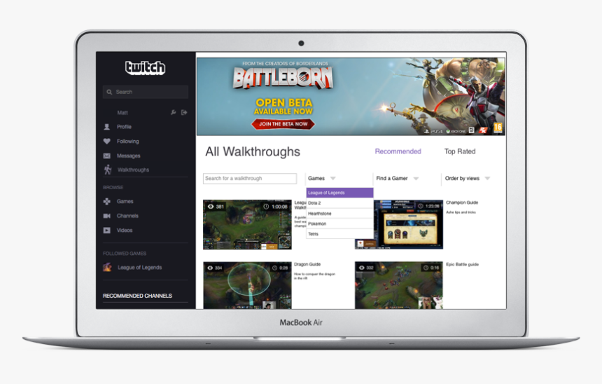 Twitch Screen, HD Png Download, Free Download