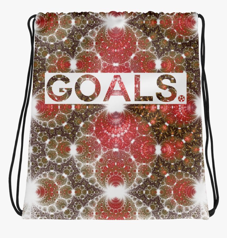 Goals Astral Sunburst Red Drawstring Bag, HD Png Download, Free Download