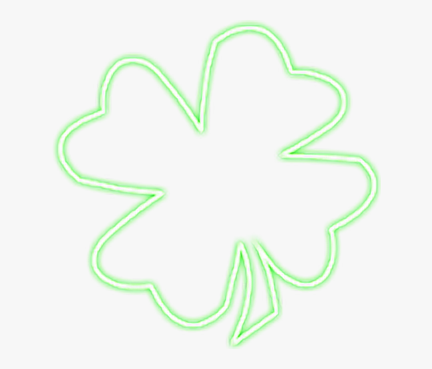 Clover Green Snapchat Neon Sign Glowing Neonsign Hd Png Download Kindpng