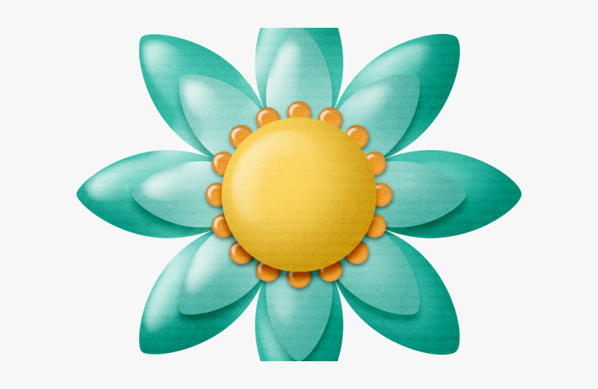 Turquoise Clipart Yellow Lotus, HD Png Download, Free Download