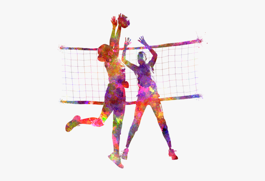 Girl Volleyball Players Png - Volleyball Player Painting, Transparent Png, Free Download