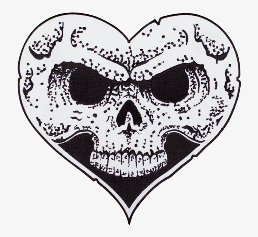 Heart Skull Patch - Heart Skull Alexisonfire, HD Png Download, Free Download