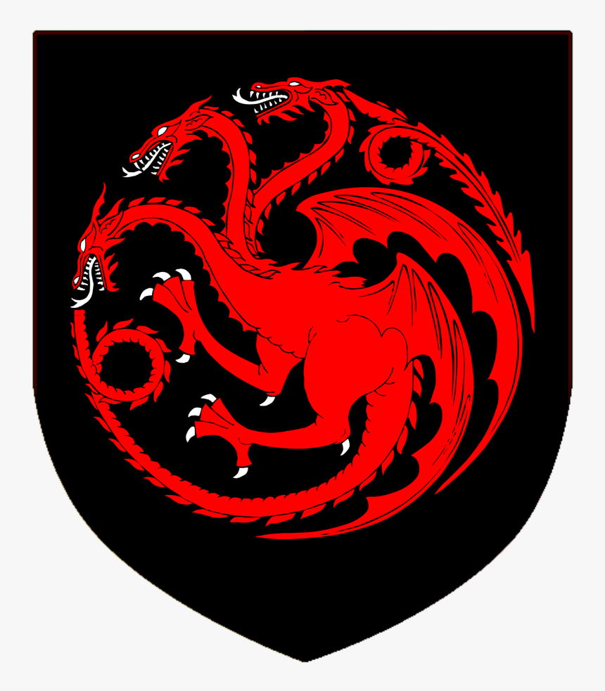 Targaryen Shield - Game Of Thrones Houses Sigil, HD Png Download, Free Download