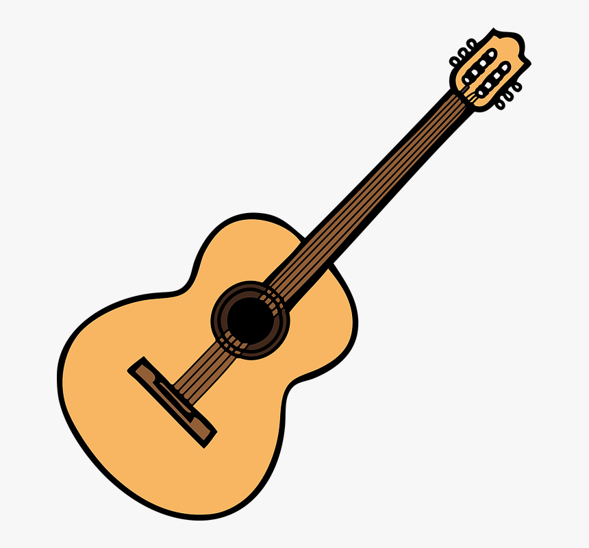 Acoustic Guitar, Guitar, Music, Sound, Instrument - Acoustic Guitar Music Clip Art, HD Png Download, Free Download