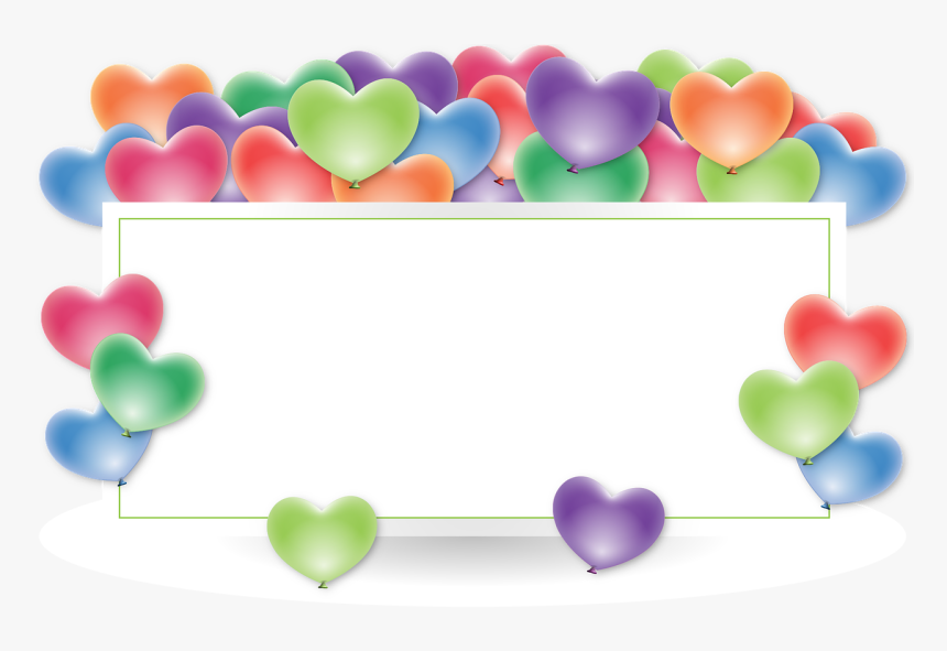 Frame Border Holder Balloons Anniversary Heart Happy Birthday In Slovak Language Hd Png Download Kindpng
