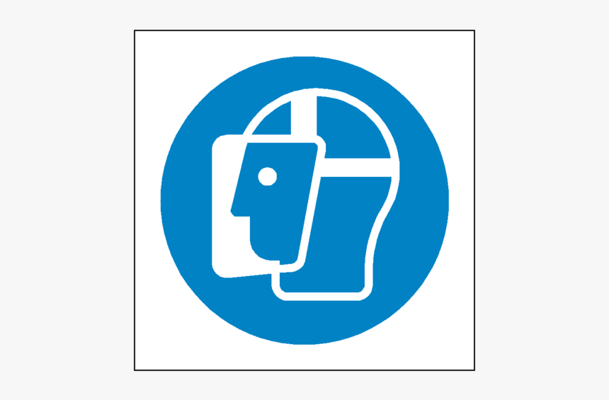 Wear Face Shield Symbol Label - Wear Face Shield Sign, HD Png Download, Free Download
