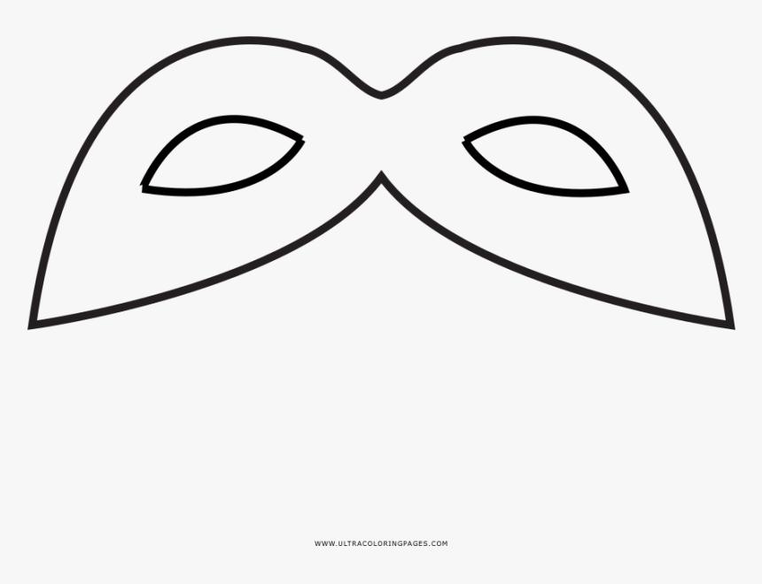 Carnaval Mask Coloring Page Line Art Hd Png Download Kindpng