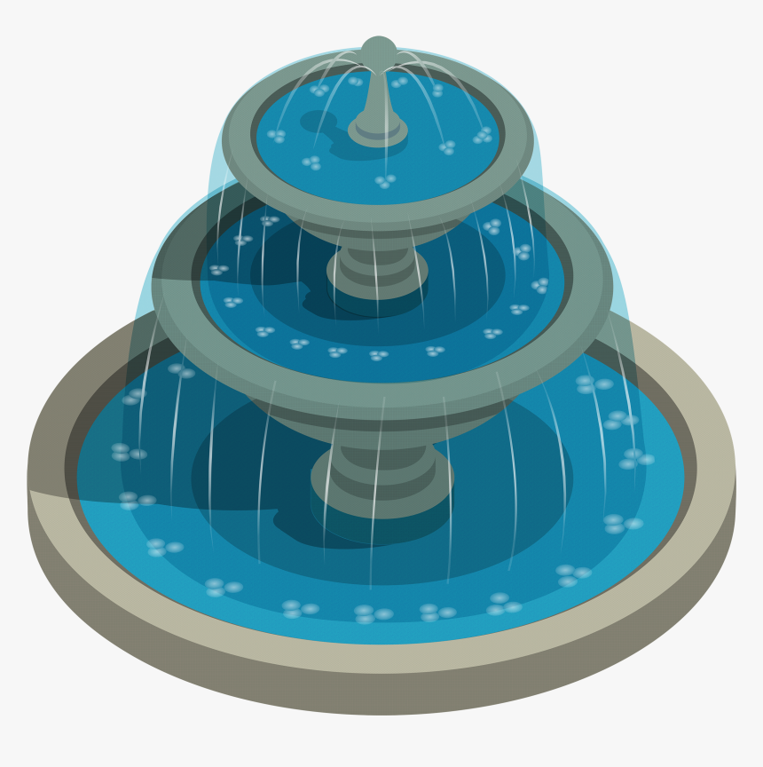 Round Water Fountain Png Clipart - Clipart Water Fountain Png, Transparent Png, Free Download