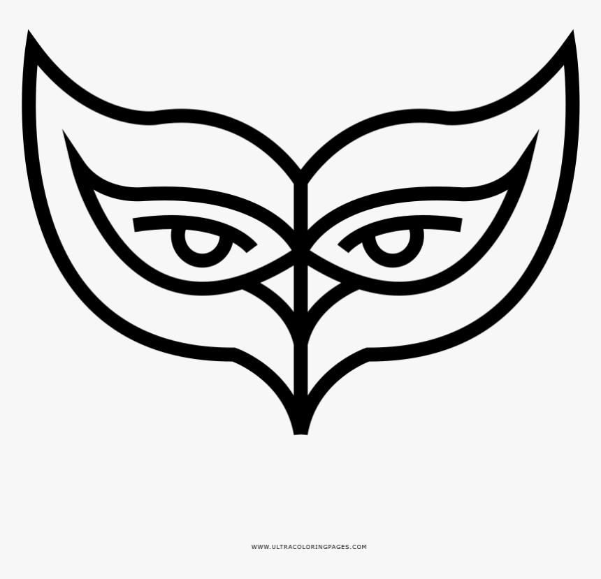 Mascara De Carnaval Desenho Para Colorir Line Art Hd Png