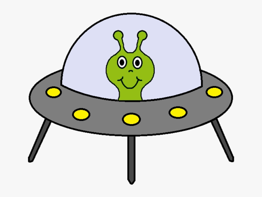 Free Space Clipart Astronaut Clip - Alien Spaceship Clip Art, HD Png Download, Free Download