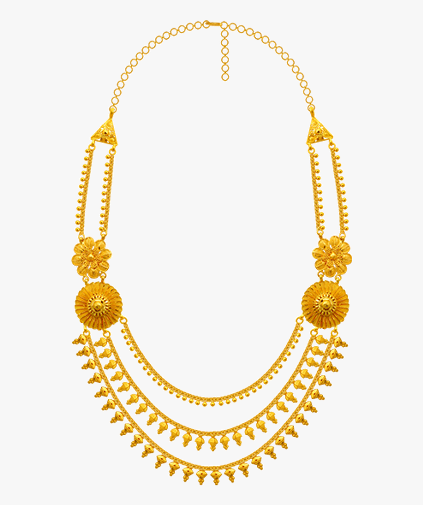 22k Yellow Gold Necklace Gold Necklace Pc Chandra - Etruscan Revival Gold Necklace, HD Png Download, Free Download
