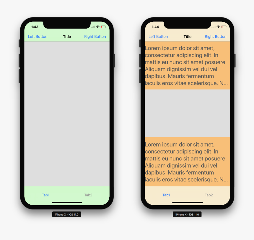 Iphone Clipart Blank Iphone - Iphone X Bottom Navigation Bar, HD Png Download, Free Download