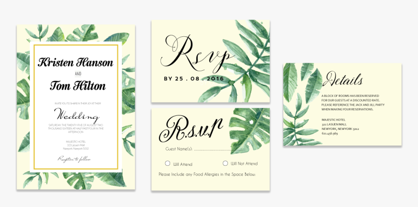 Tropical Leaves Invitation Set Hd Png Download Kindpng Find images of tropical leaves. tropical leaves invitation set hd png